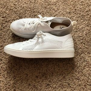 Sofft Somers Knit White Sneakers